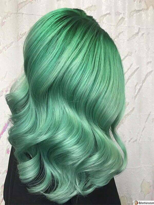 cool green hair color