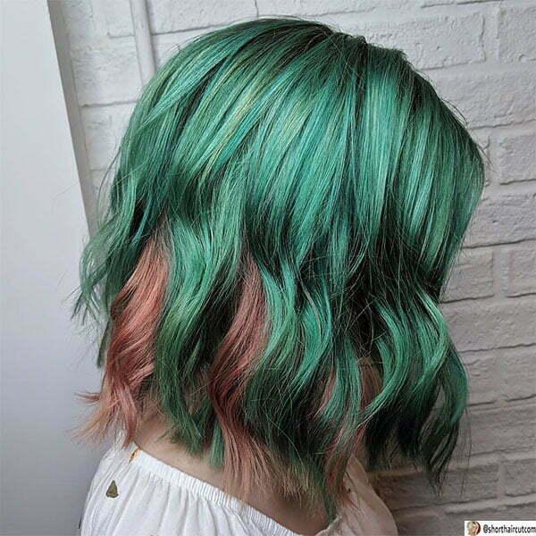 cool green short hair