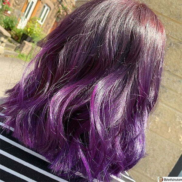 cool purple haircuts