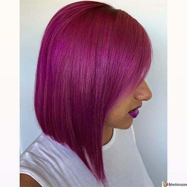 cool purple hairstyles