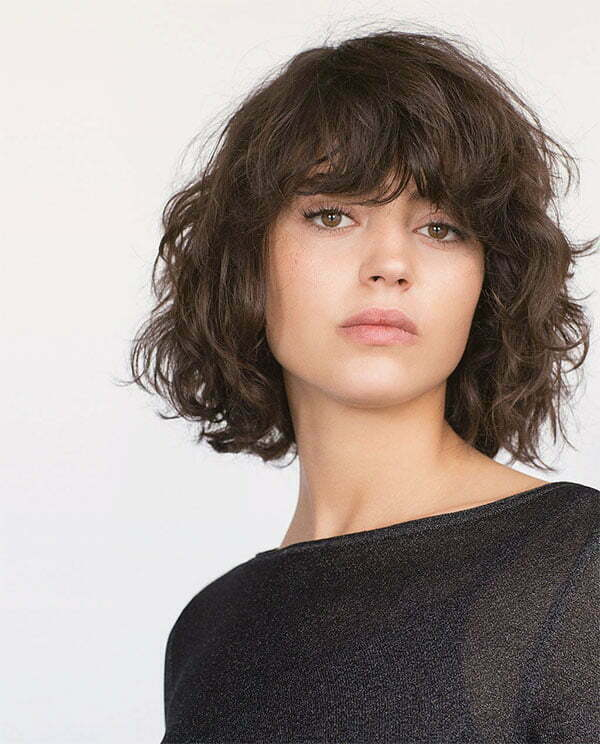 cool short curly hair