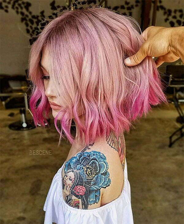 cool short pink haircuts