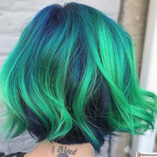 cut green hair