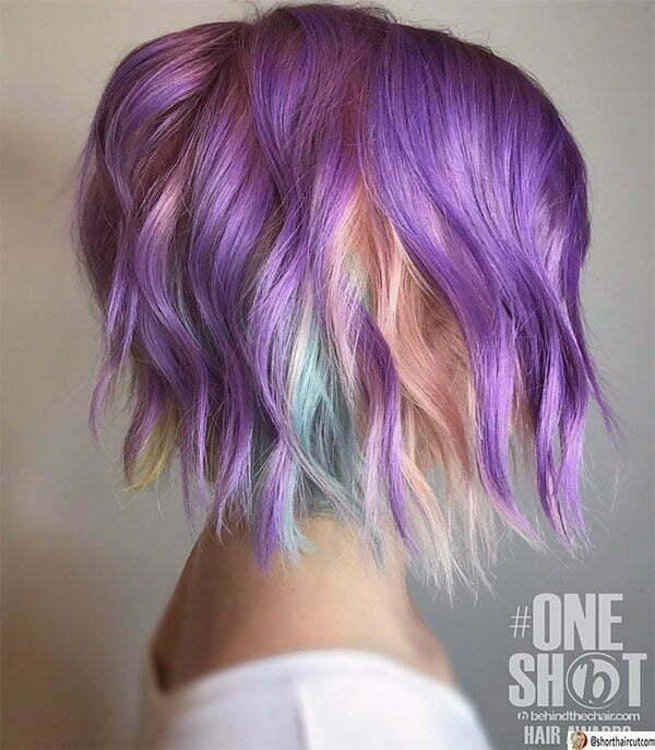 cut purple hair