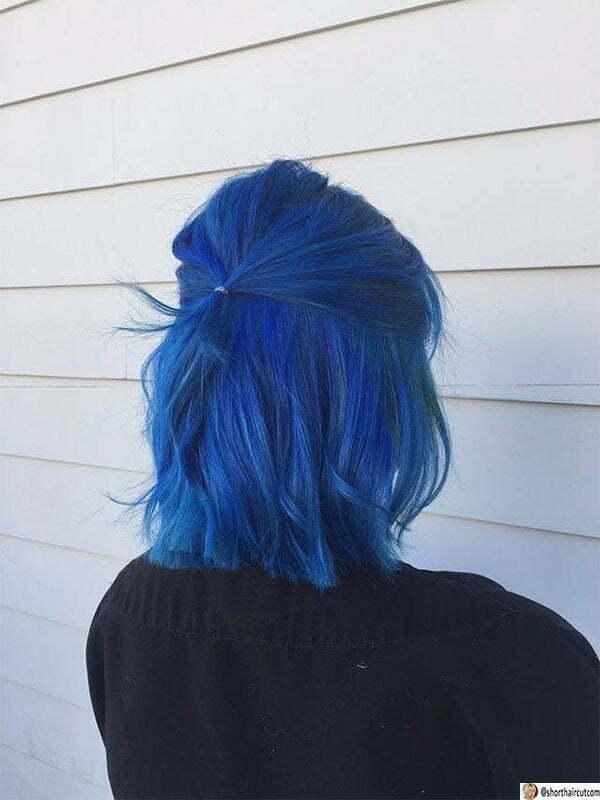 cute blue haircuts