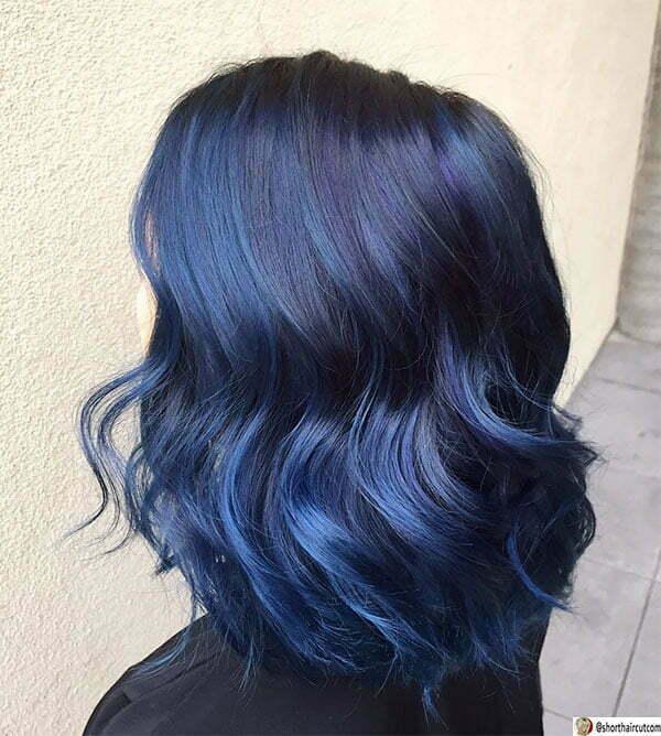 cute blue hairstyles