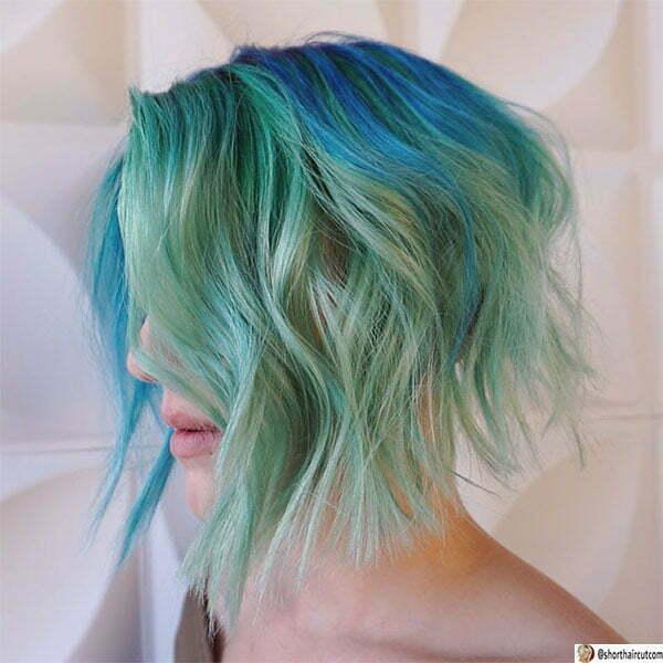 cute green hair styles