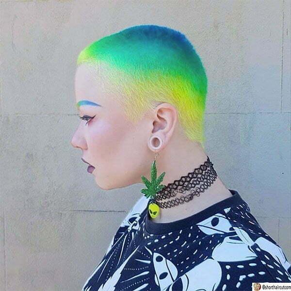 cute green haircuts