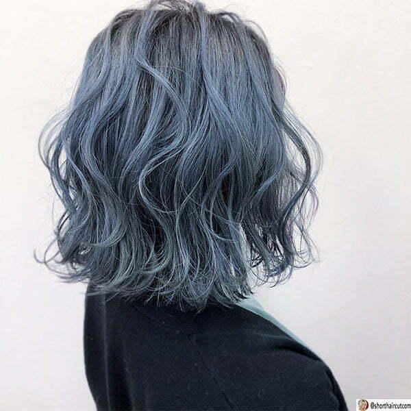 cute hairstyles blue