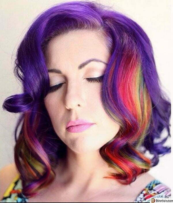 cute hairstyles for purple hair