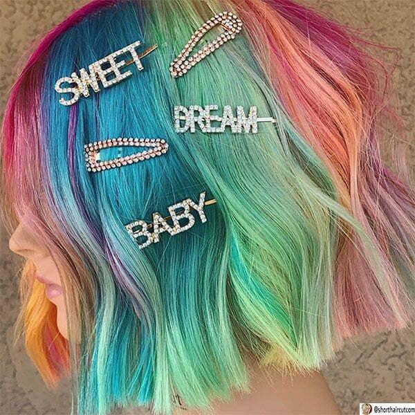 cute hairstyles for short green hair