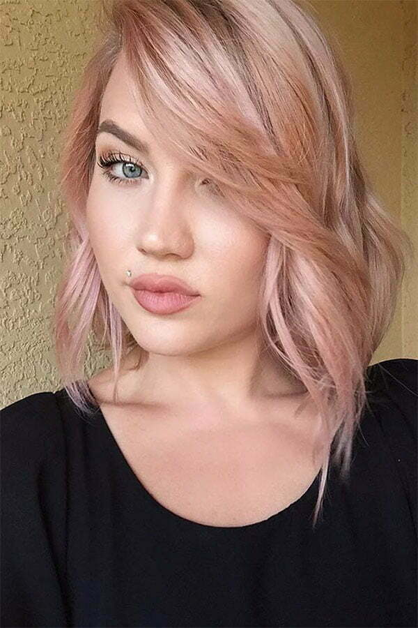 cute pink hair styles