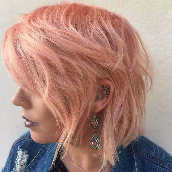 cute pink short hair