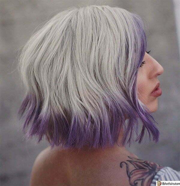 cute purple haircuts
