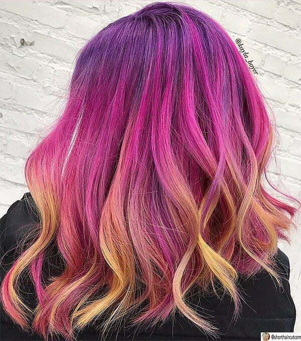 cute purple hairstyles
