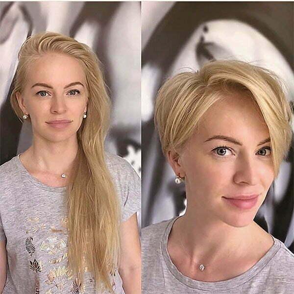 cute short blonde