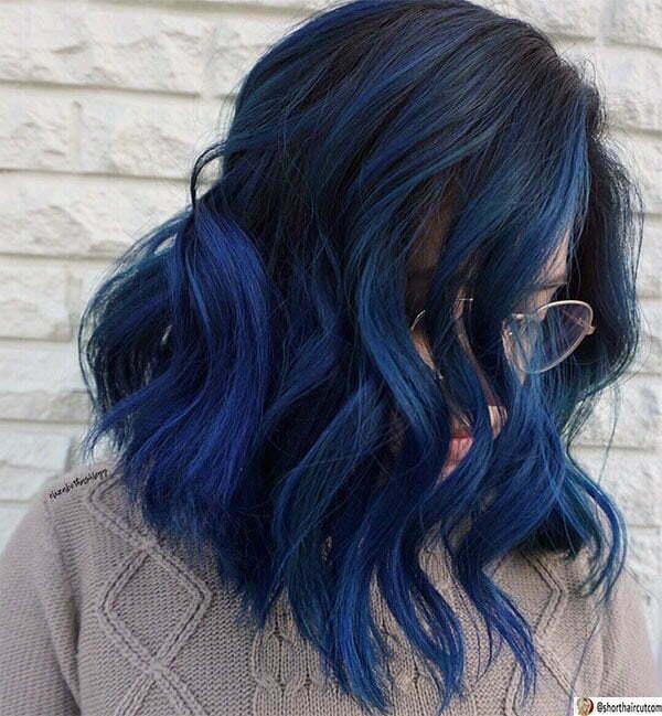 cute short blue hair