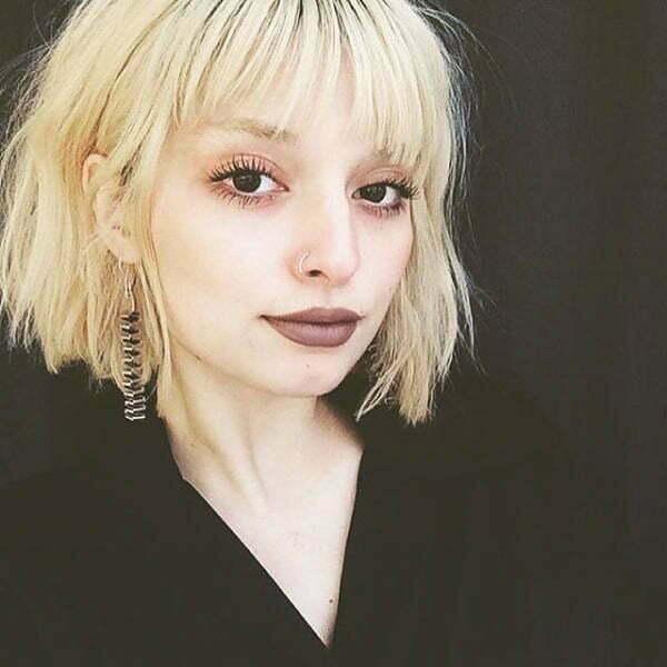 cute short hair blonde