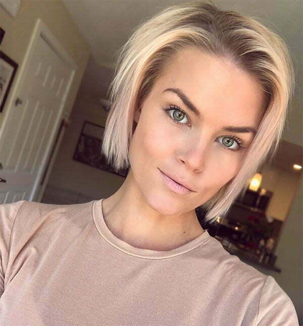 cute short haircuts blonde