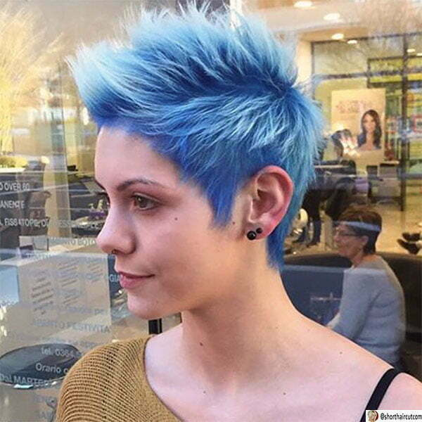 easy blue hairstyles