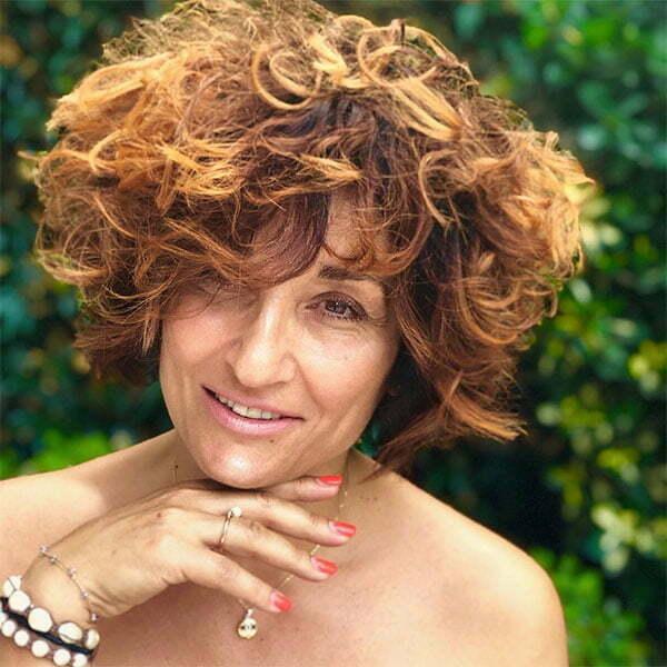 elegant short curly hairstyles