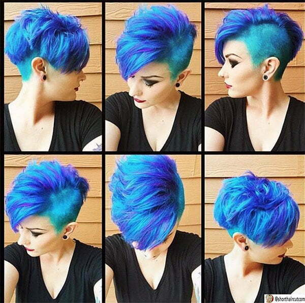 famous women with blue hair