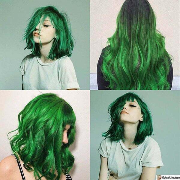 green cut hair