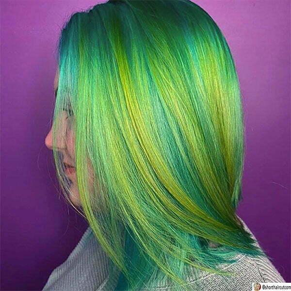 green cute hair