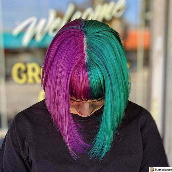 green hair color for short hair