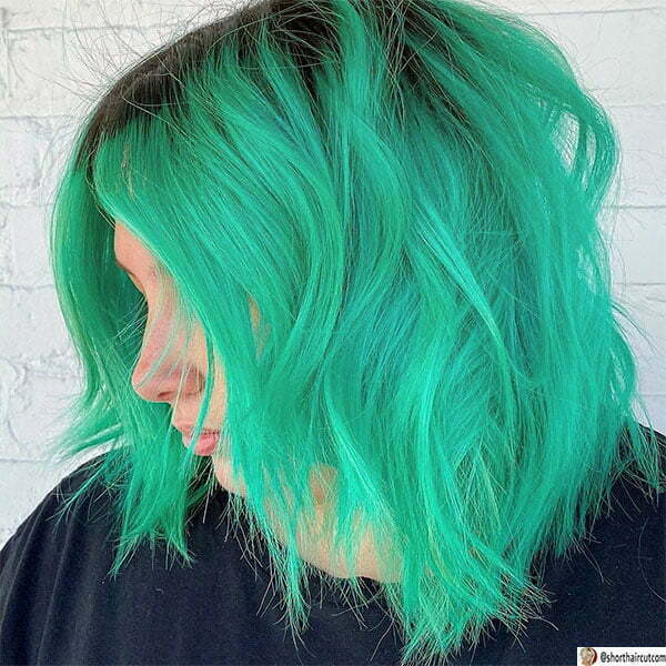 green hair color styles