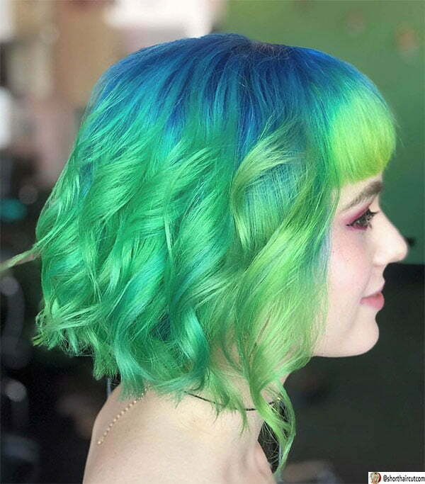 green hair color trends