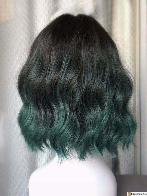 green hair colors for short hair