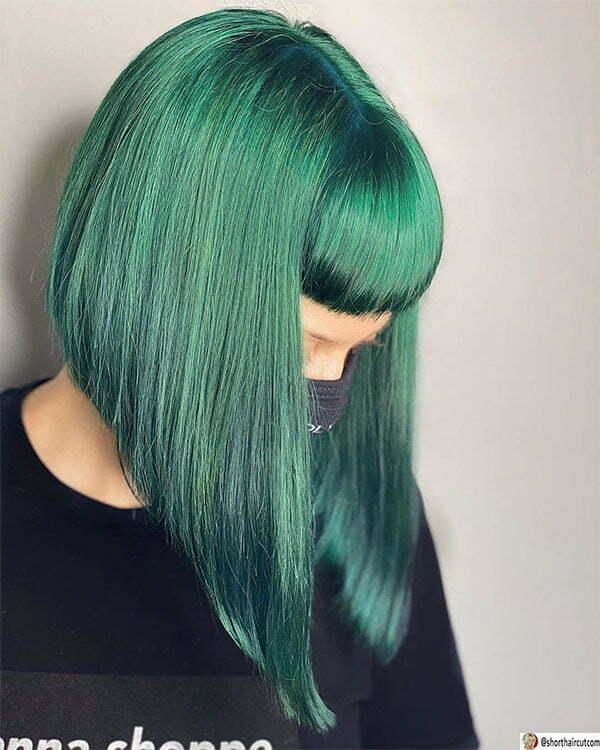 green hair colour ideas