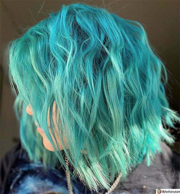 green hair cuts