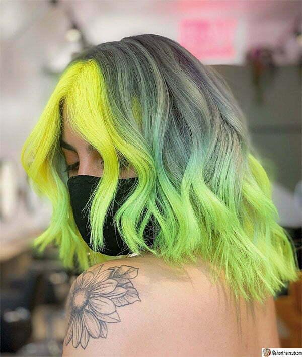 green hair female