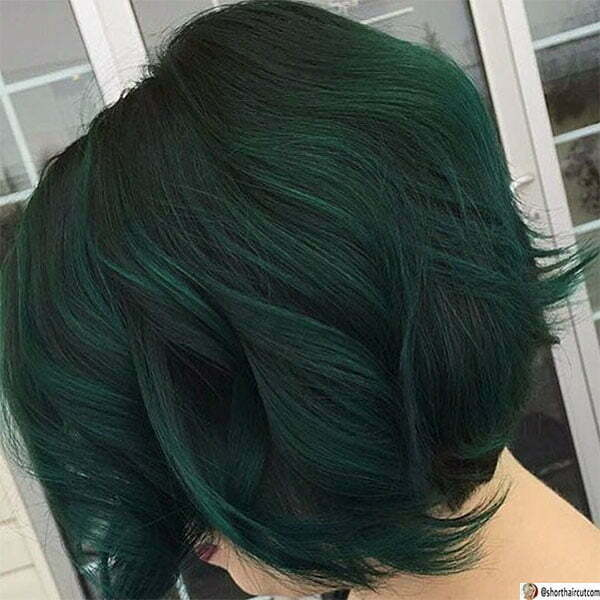 green hair lady