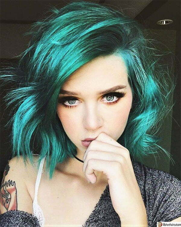 green hair pictures ideas