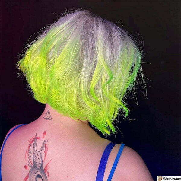 green hair styles women