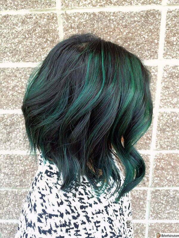 green hair women