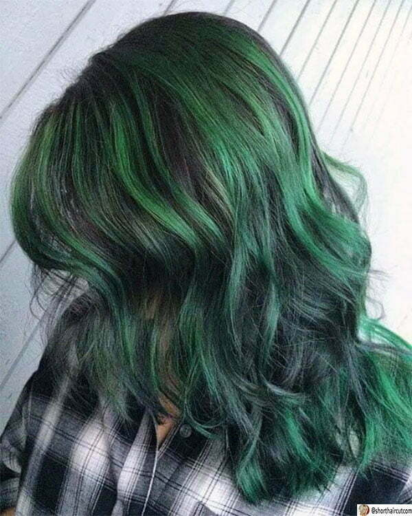 green haircut ideas