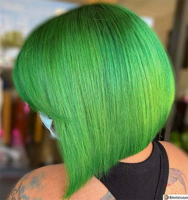 green womens hairstyles