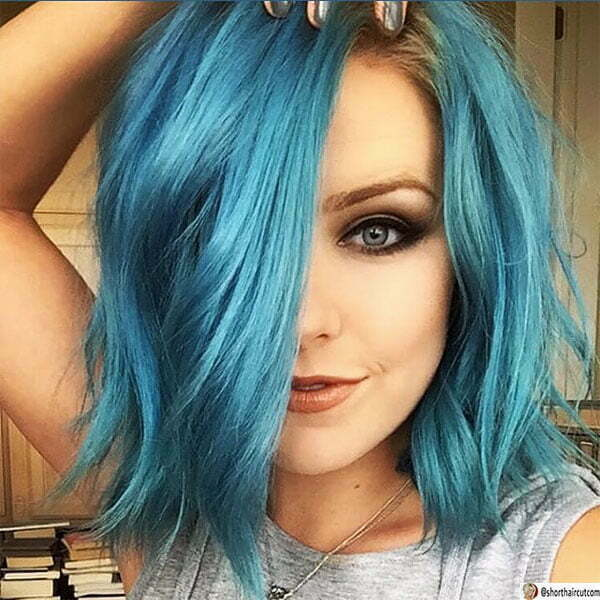 hair color ideas for blue hair