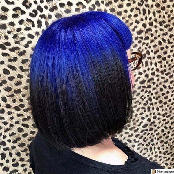 hair color ideas for short blue hair