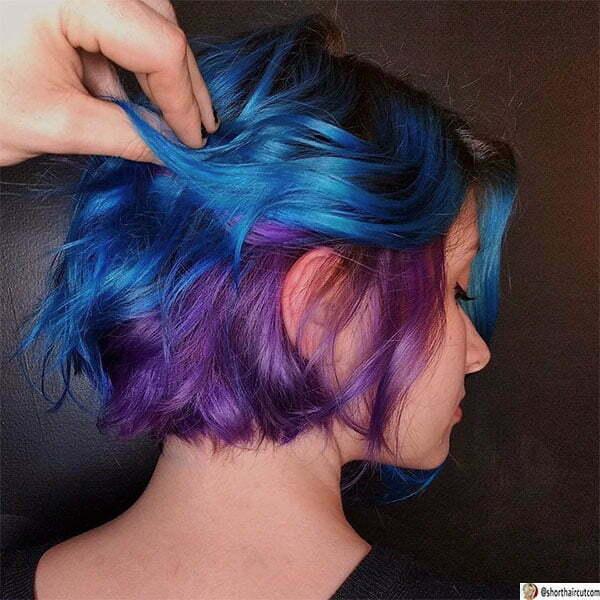 hair color ideas for short purple hair