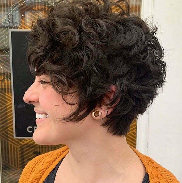 hair style for curly short hair