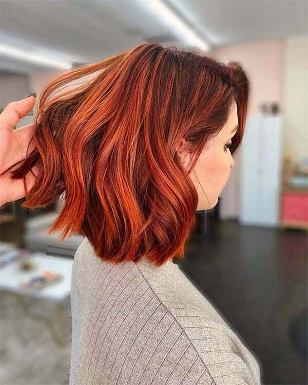 hair style red color