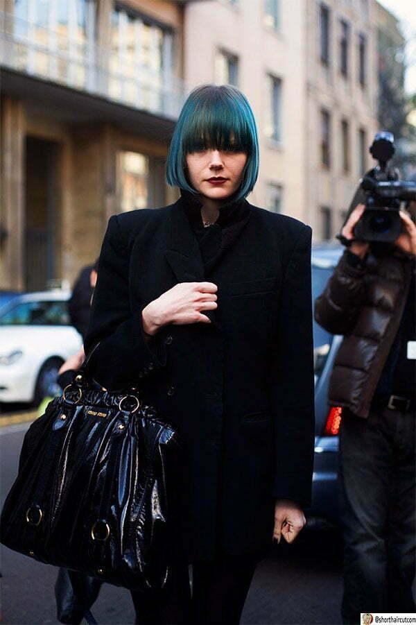 hair styles blue