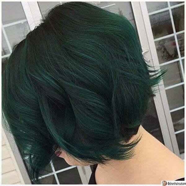 hair styles for short green hair