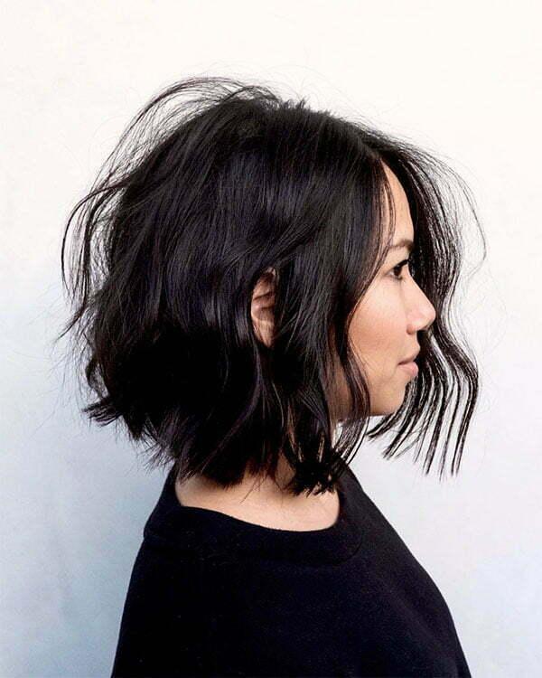 hair styles short wavy hair
