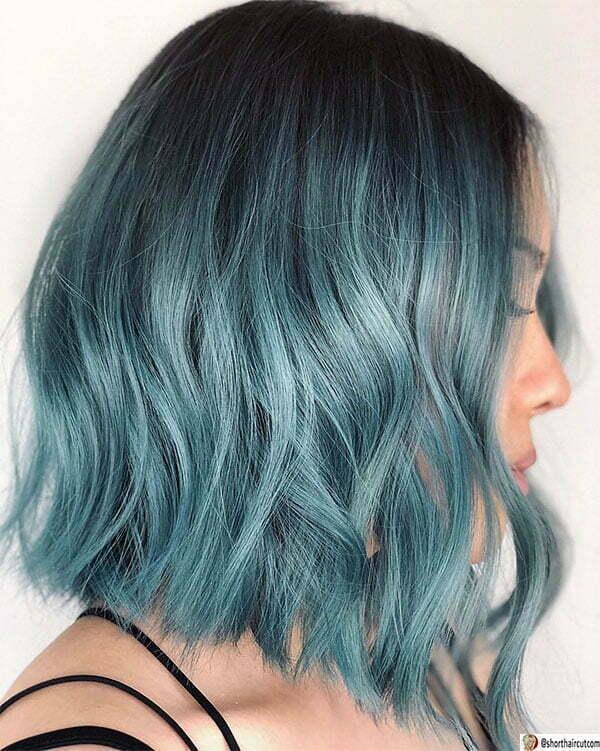 haircut blue